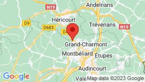 Carte de localisation du centre de contrôle technique BETHONCOURT