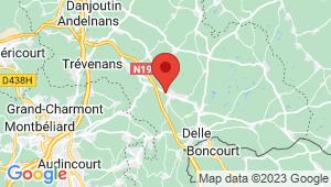 Carte de localisation du centre de contrôle technique GRANDVILLARS