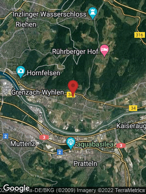 Google Map of Grenzach-Wyhlen