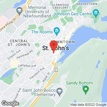 Map of Tim Hortons at 100 New Gower St Cabot Place, St John's, NL A1C 6K3