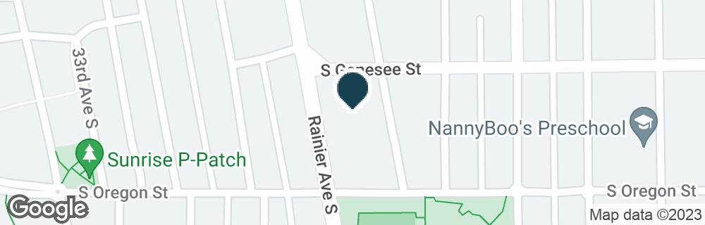 Google Map of4412 RAINIER AVE S