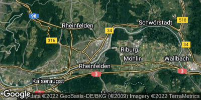 Google Map of Rheinfelden