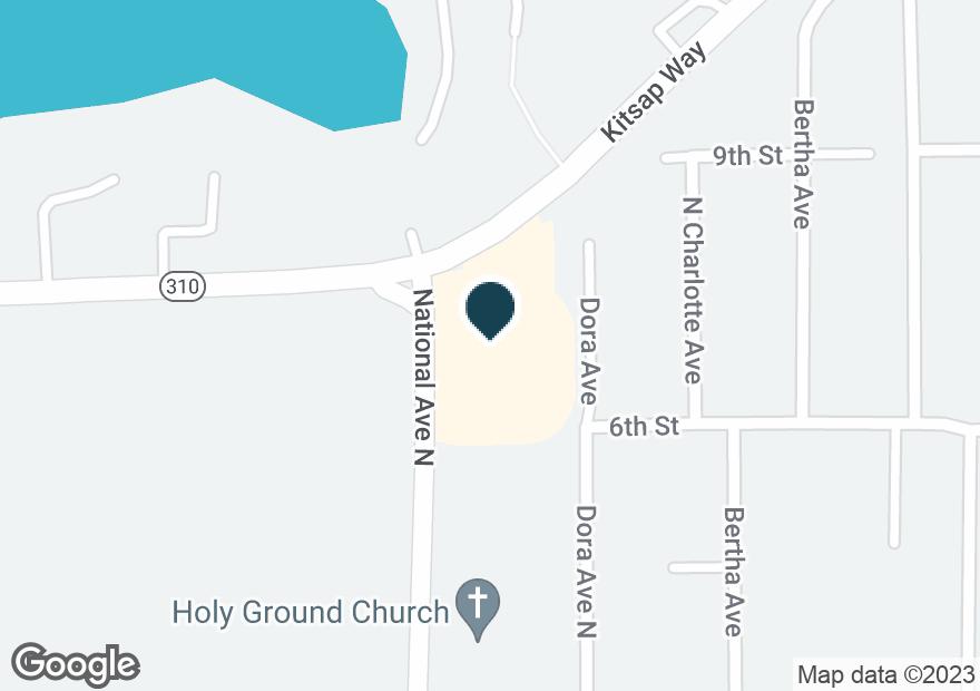 Google Map of3929 KITSAP WAY