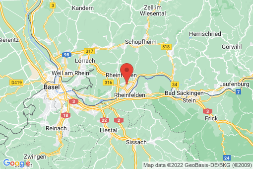 Karte Rheinfelden