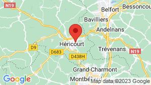 Carte de localisation du centre de contrôle technique HERICOURT