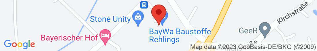 BayWa Baustoffe Rehlings Anfahrt