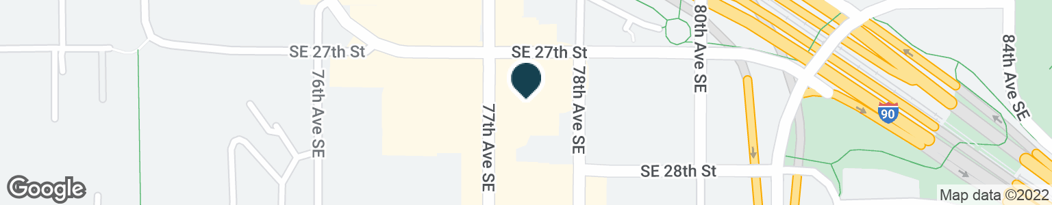 Google Map of7707 SE 27TH ST