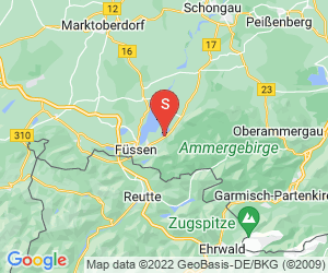 Karte für Campingplatz Bannwaldsee
