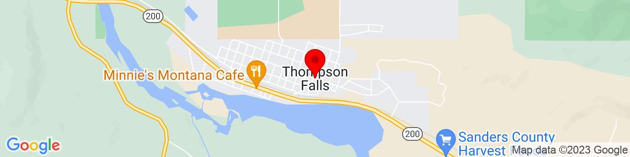 Google Map of 47.5955023, -115.3373865