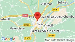 Carte de localisation du centre de contrôle technique BLOIS