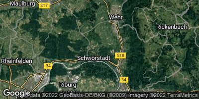 Google Map of Schwörstadt