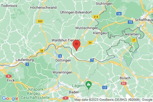 Karte Küssaberg