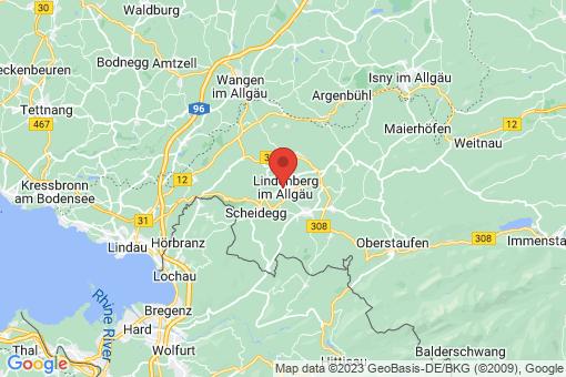 Karte Lindenberg im Allgäu