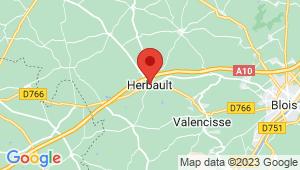 Carte de localisation du centre de contrôle technique Herbault