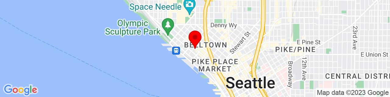 Google Map of 47.6139856, -122.3477304
