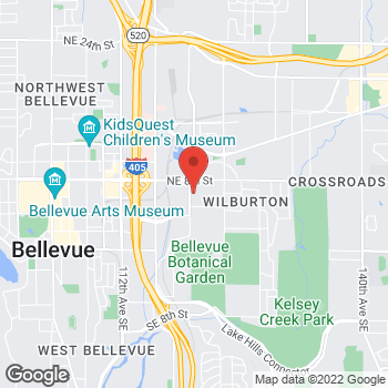 Map of Olivia C Kristof, DDS at 626 120th Avenue NE, Bellevue, WA 98005