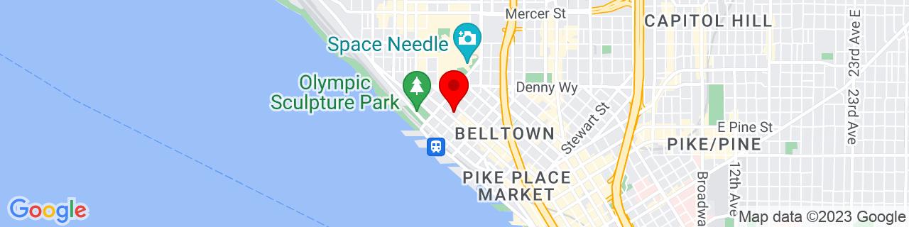 Google Map of 47.61638888888889, -122.35083333333333