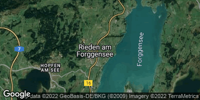 Google Map of Rieden am Forggensee