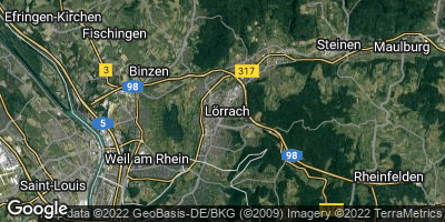 Google Map of Lörrach