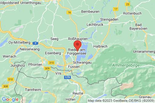 Karte Rieden am Forggensee