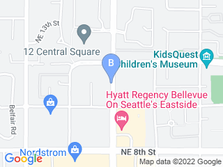 Map of Cat Care Clinic Dog Boarding options in Bellevue | Boarding