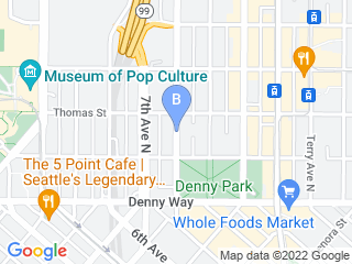 Map of The Barking Lounge Dog Boarding options in Seattle | Boarding