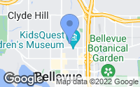 Map of Bellevue, WA