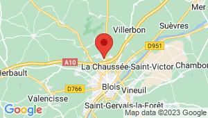 Carte de localisation du centre de contrôle technique Villebarou