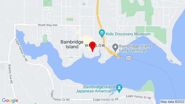 Google Map of 370 Brien Dr SE, Bainbridge Island, WA 98110