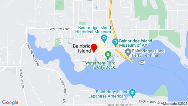 Google Map of 123 Bjune Street, Bainbridge Island, WA 98110