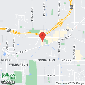 Map of Staples at 1645 140th Ave NE, Bellevue, WA 98005