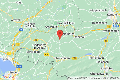 Karte Grünenbach