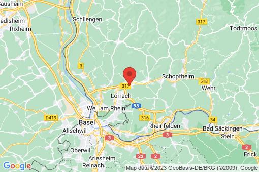 Karte Lörrach