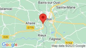 Carte de localisation du centre de contrôle technique RIEUX