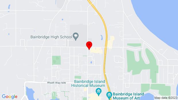Google Map of 1270 Madison Ave N, Bainbridge Island, WA 98110