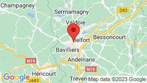Carte de localisation du centre de contrôle technique BELFORT