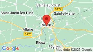 Carte de localisation du centre de contrôle technique Saint Nicolas de Redon