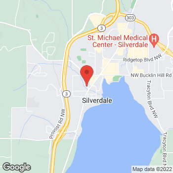 Map of Xin Liu, DDS at 3505 NW Anderson Hill Road, Silverdale, WA 98383