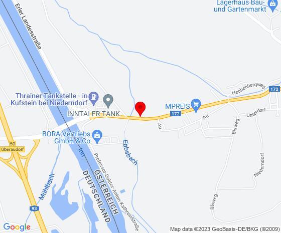 Google Map of Audorferstrasse 33, 6342 Niederndorf