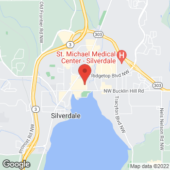 Map of Rite Aid at 2860 NW Bucklin Hill Road, Silverdale, WA 98383