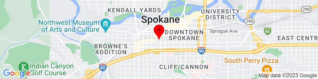 Google Map of 47.655203, -117.427057