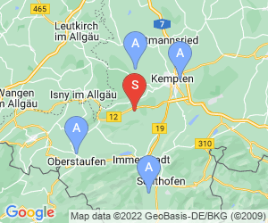 Karte für Golfclub Hellengerst-Allgäuer Voralpen e. V.