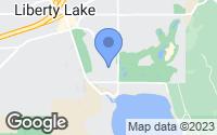 Map of Liberty Lake, WA