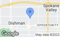 Map of Spokane Valley, WA