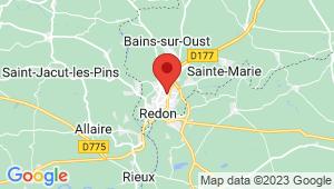 Carte de localisation du centre de contrôle technique REDON