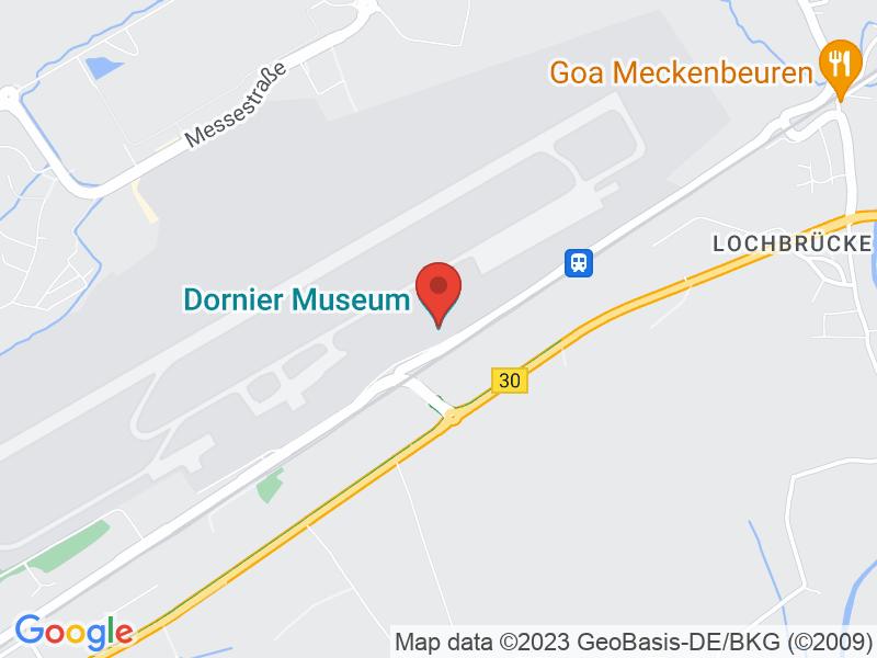 Map of Dornier Museum Friedrichshafen