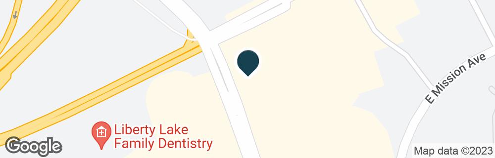 Google Map of1502 N LIBERTY LAKE RD