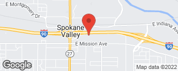 Map of 12720 E Nora Ave in Spokane Valley