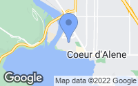 Map of Coeur d'Alene, ID