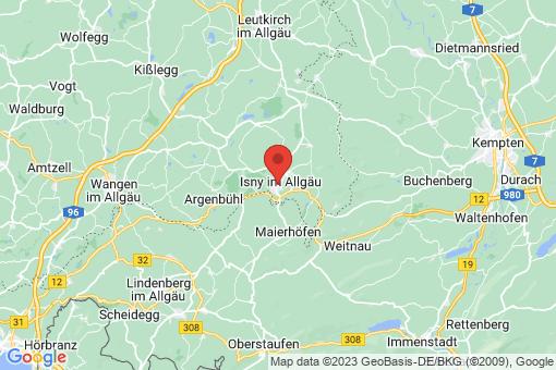 Karte Isny im Allgäu